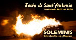 Banner Festa di Sant'Antonio Abate - Chiesa Parrocchiale San Giacomo Maggiore, Soleminis - 18 Gennaio 2020 - ParteollaClick