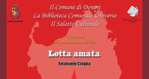 Banner Presentazione del libro LOTTA AMATA di e con Emanuele Cioglia - Donori - 18 Gennaio 2020 - ParteollaClick