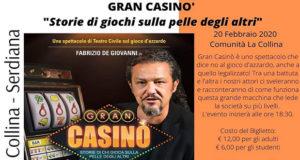 Banner GRAN CASINÒ, uno spettacolo per dire NO al gioco d'azzardo - Serdiana - 20 Febbraio 2020 - ParteollaClick