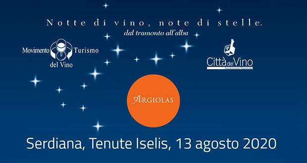 Banner Calici di Stelle 2020 della Cantina Argiolas, aspettando la vendemmia tra stelle e mitologias - Serdiana - 13 Agosto 2020 - ParteollaClick