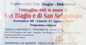 Banner Festeggiamenti Patronali di San Biagio e San Sebastiano 2020 - Dolianova - Dal 27 al 31 Agosto 2020 - ParteollaClick