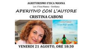 Banner Presentazione del libro LA CASA DEGLI SPECCHI di e con Cristina Caboni, all'Agriturismo S'Isca Manna - Serdiana - 21 Agosto 2020 - ParteollaClick