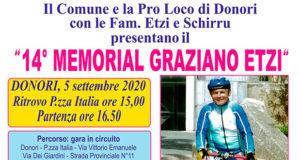 Banner 14° Memorial Graziano Etzi - Donori - 5 Settembre 2020 - ParteollaClick