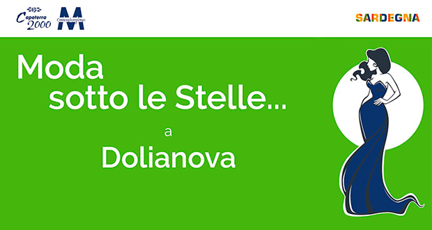 Banner Moda Sotto le Stelle, sfilata al Parco Artistico Gianni Argiolas - Dolianova - 11 Ottobre 2020 - ParteollaClick