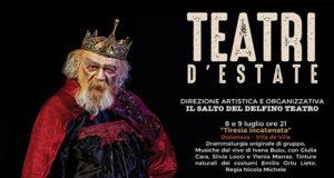 Banner 1ª ed. del festival TEATRI D'ESTATE con la Compagnia Salto del Delfino a Villa de Villa - Dolianova - Dall'8 Luglio al 26 Settembre 2021 - ParteollaClick