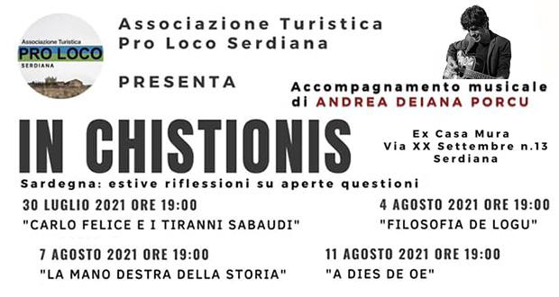 Banner IN CHISTIONIS, quattro appuntamenti letterari nella Casa Museo - Serdiana - Il 30 Luglio, il 4, il 7 e l'11 Agosto 2021 - ParteollaClick