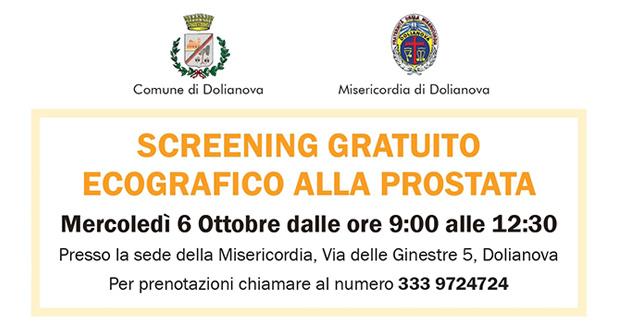 Banner Giornata di screening gratuito ecografico alla prostata, alla Misericordia del Parteolla - Dolianova - 6 Ottobre 2021 - ParteollaClick