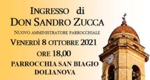 Banner Ingresso di Don Sandro Zucca nuovo Amministratore Parrocchiale di San Biagio - Dolianova - 8 Ottobre 2021 - ParteollaClick
